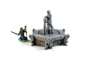 Village Fountain - 28mm Village Decor for Tabletop RPG - Miniature Town