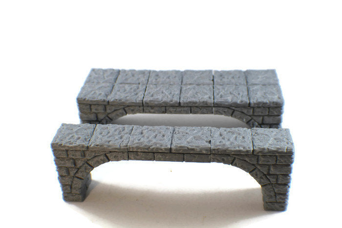 Stone Bridges for 28mm Dungeon Terrain - Miniature Town