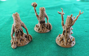Evil Trees 3-piece Set of 28mm Miniature Monsters - Miniature Town