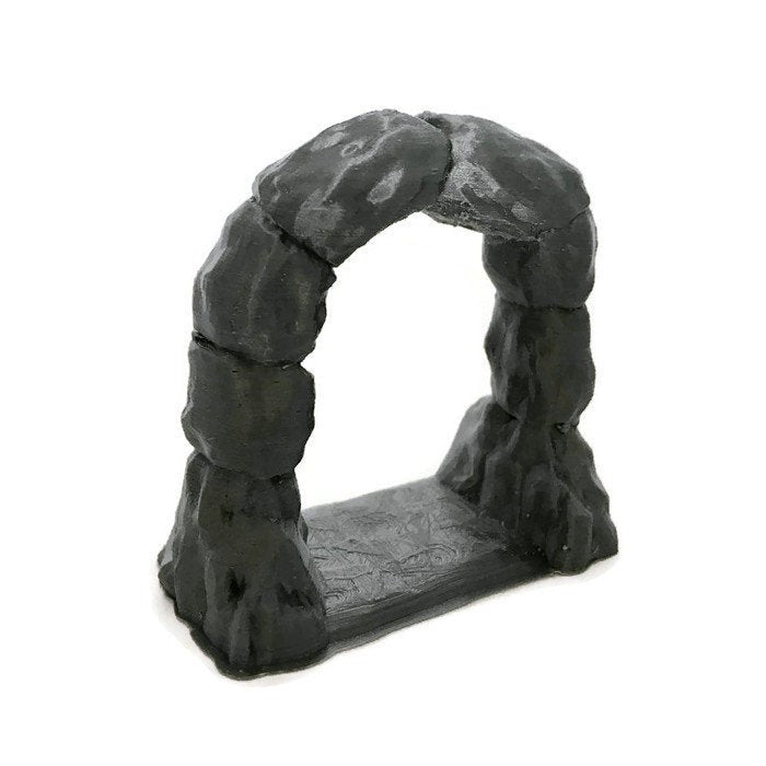 Cavern Entrance Archway for 28mm D&D Cavern Terrain - Miniature Town