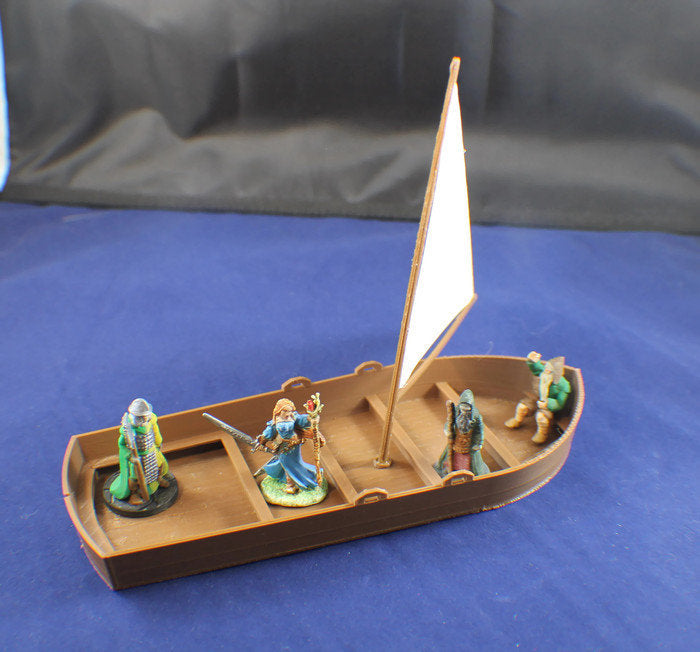 28mm Sail Boat - Miniature Town