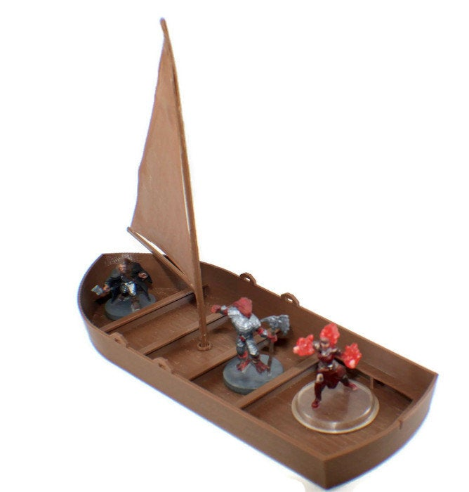 28mm Sail Boat | Dungeons and Dragons Sailing Ship | Tabletop RPG | Miniature Ship