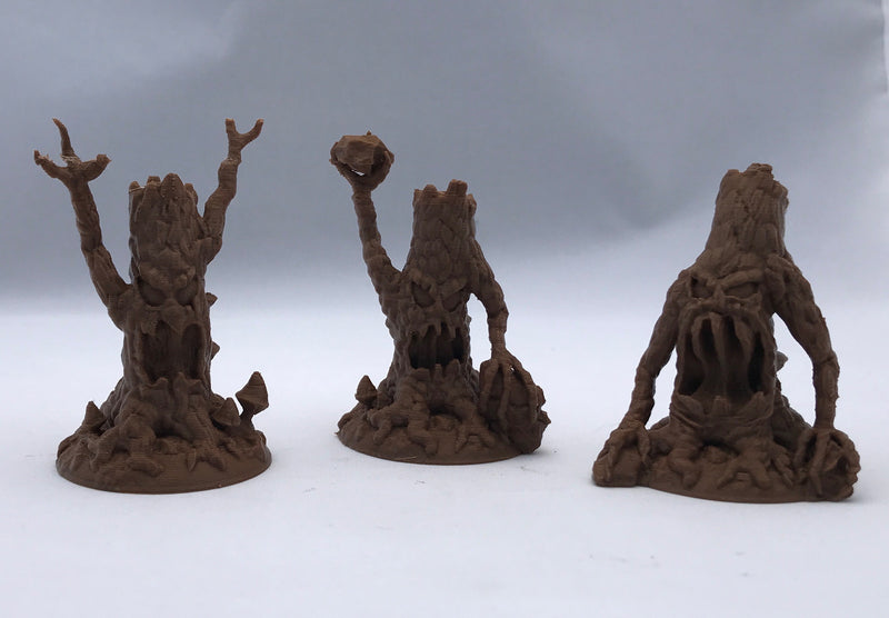 Evil Trees 3-piece Set of 28mm Miniature Monsters | Dnd Miniatures for Wilderness Terrain | Dungeons & Dragons Miniatures