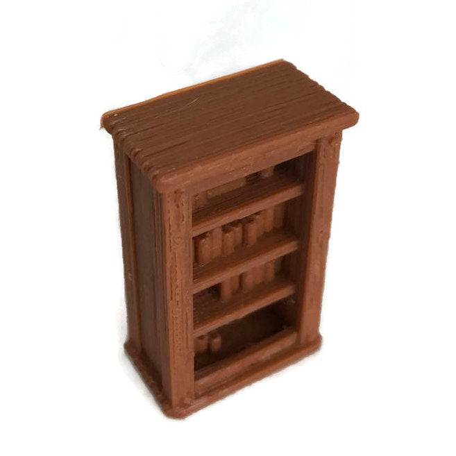28mm Miniature Bookcase for D&D Dungeon Furniture | DnD Terrain | Dungeons and Dragons Terrain | RPG Dungeon Terrain