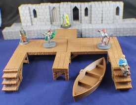 8-Piece Modular Docks Set - Miniature Town