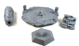 Carved Rock Pillar 28mm Dungeon Terrain - Miniature Town