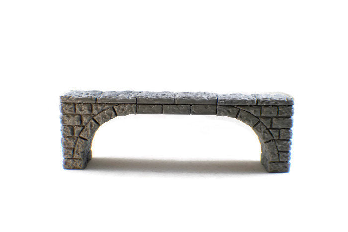Stone Bridges | DnD Terrain | 28mm Scale Dungeons and Dragons Terrain | RPG Dungeon Terrain