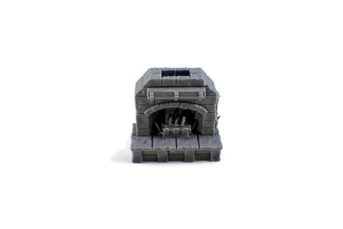 Fancy Fireplace 28mm Village Furniture - Miniature Town