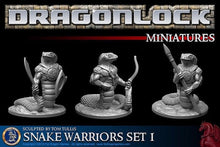 Load image into Gallery viewer, Yuan-ti Snake Warriors Set of 28mm miniatures - Miniature Town