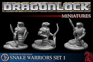 Yuan-ti Snake Warriors Set of 28mm miniatures - Miniature Town