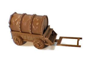 Covered Wagon 28mm Miniature for D&D Wilderness Terrain - Miniature Town