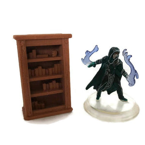 Miniature Bookcase for 28mm Scale D&D Dungeon Furniture - Miniature Town