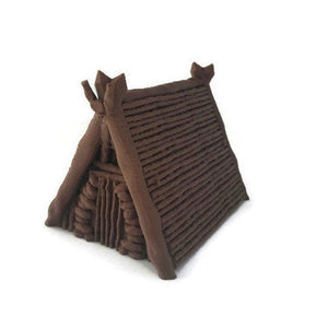 Tribal Village Huts for 28mm Scale Miniature Dungeon Terrain (Kyn Finvara) - Miniature Town