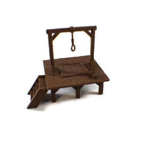 28mm Miniature Gallows | Dnd Miniatures | Dungeons & Dragons Wilderness Miniatures
