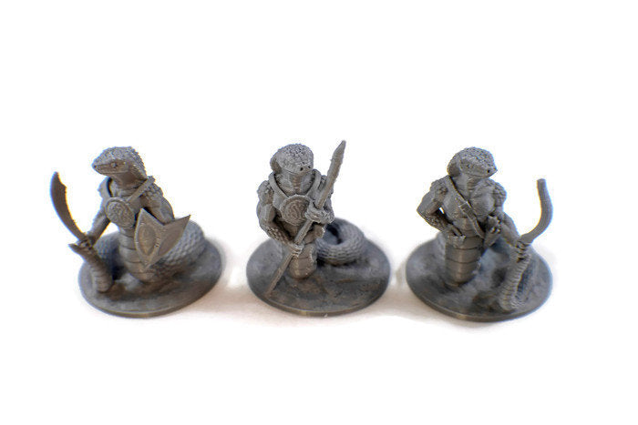 Yuan-ti Snake Warriors Set of 28mm miniatures | Dnd Miniatures | Dungeons & Dragons Miniatures