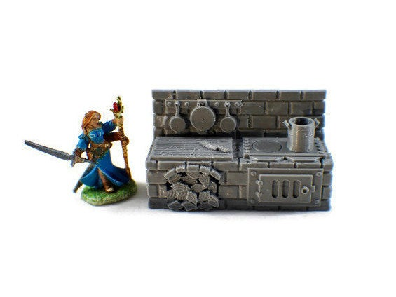 Stove Top 28mm Village Furniture | Dungeon Furniture | Dungeons and Dragons Terrain | D&D Furniture | RPG Terrain