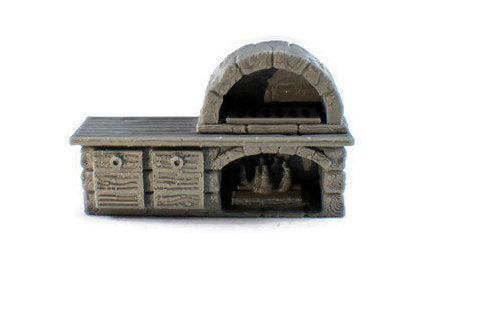 Brick Oven 28mm Village Furniture | Dungeon Furniture | Dungeons and Dragons Terrain | D&D Furniture | RPG Terrain