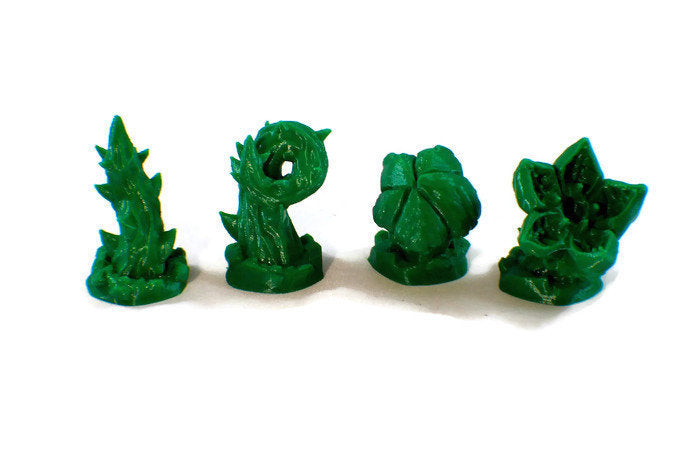 Carnivorous Plants 4-piece Set of 28mm Miniature Monsters | Dnd Miniatures for Wilderness Terrain | Dungeons & Dragons Miniatures