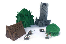 Kyn Finvara 28mm Tribal Village Huts for RPG - Miniature Town