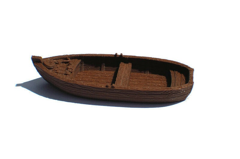 28mm Rowboat for Tabletop RPG - Miniature Town
