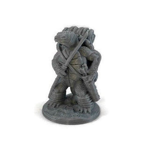 Tortle Mini 3-piece Set of 28mm D&D Miniatures - Miniature Town