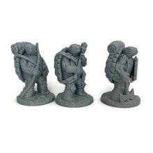 Load image into Gallery viewer, Tortle Mini 3-piece Set of 28mm D&D Miniatures - Miniature Town