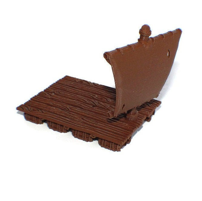 Pirate Raft for Tabletop RPG - 28mm Ships and Boats - Miniature Town