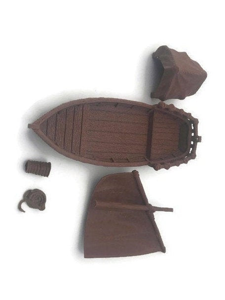 Pirate Skiff Boat for Tabletop RPG | 28mm Ships and Boats | Dungeons & Dragons Seafaring Scatter