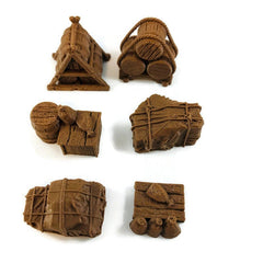 6-piece Ship or Caravan Cargo | 28mm Ships and Boats | Dungeons & Dragons Seafaring Scatter