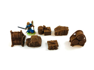 6-piece Ship or Caravan Cargo - Miniature Town