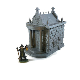 Mausoleum Set for 28mm Graveyard Scenery - Miniature Town