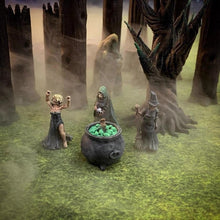 Load image into Gallery viewer, Witch or Hag Coven 28mm D&D Monster Miniatures - Miniature Town