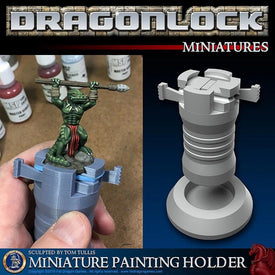 Miniature Painting Holder for 28mm D&D and Pathfinder Miniatures - Miniature Town