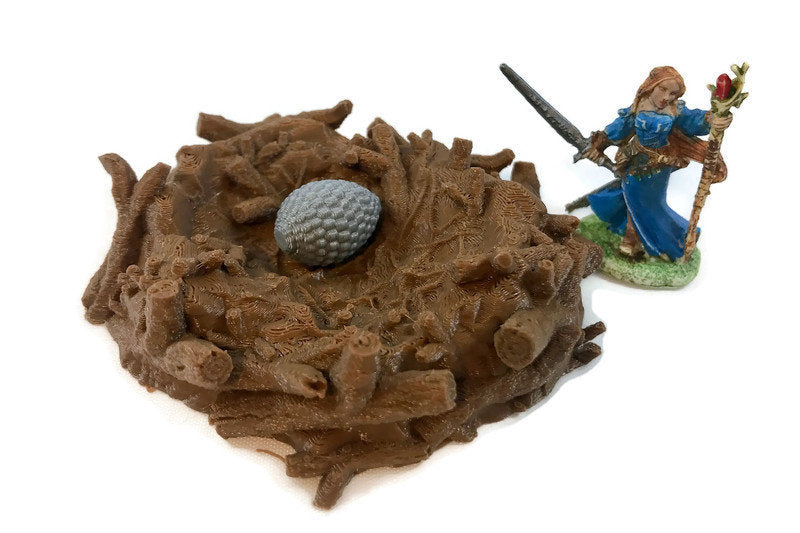 D&D Monster or Dragon Nest with Eggs | 28mm Miniatures for Wilderness Terrain | Dungeons and Dragons Miniatures