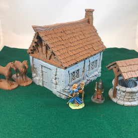 Small Cottage 28mm scale for D&D Village Terrain - Miniature Town