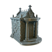 Load image into Gallery viewer, Mausoleum Set for 28mm Graveyard Scenery - Miniature Town