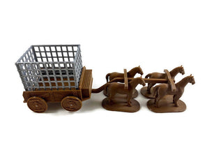 Prison Wagon with Cage for 28mm Scale D&D Village - Miniature Town