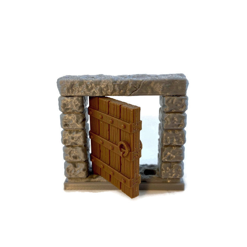 28mm Door for Dungeon Terrain | 28mm Scale Dungeons and Dragons Terrain | RPG Dungeon Terrain - Miniature Town