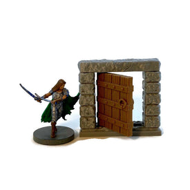 Door for Dungeon Terrain 28mm Scale Dungeons and Dragons Terrain | RPG Dungeon Terrain - Miniature Town