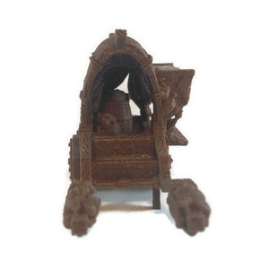 Market Wagon for 28mm Scale D&d Terrain - Miniature Town