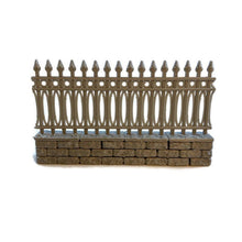 Load image into Gallery viewer, Cemetery Fence Separate Pieces for 28mm Graveyard Scenery - Miniature Town
