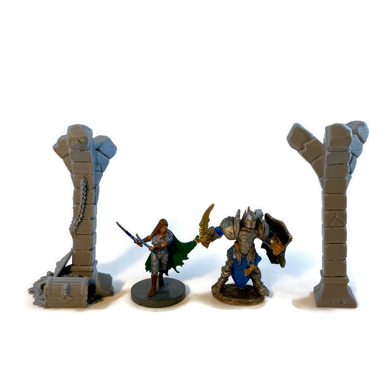 Columns or Pillars for 28mm Scale Dungeon Terrain - Miniature Town
