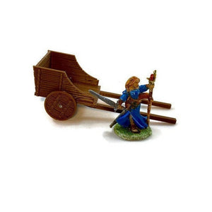 Hay Cart for 28mm Scale Farm or Village Terrain Scatter - Miniature Town
