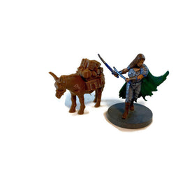 Pack Mule Mini | 28mm Scale Miniature for D&D Terrain | Dungeons and Dragons