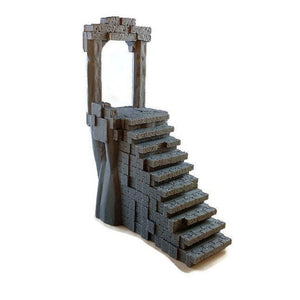 Ruined Portal Staircase for 28mm Scale Dungeons and Dragons Terrain