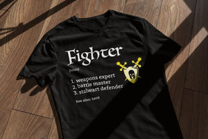 D&D Fighter Class Shirt | Unisex Short Sleeve Tee | Dungeons and Dragons Pathfinder Tabletop RPG