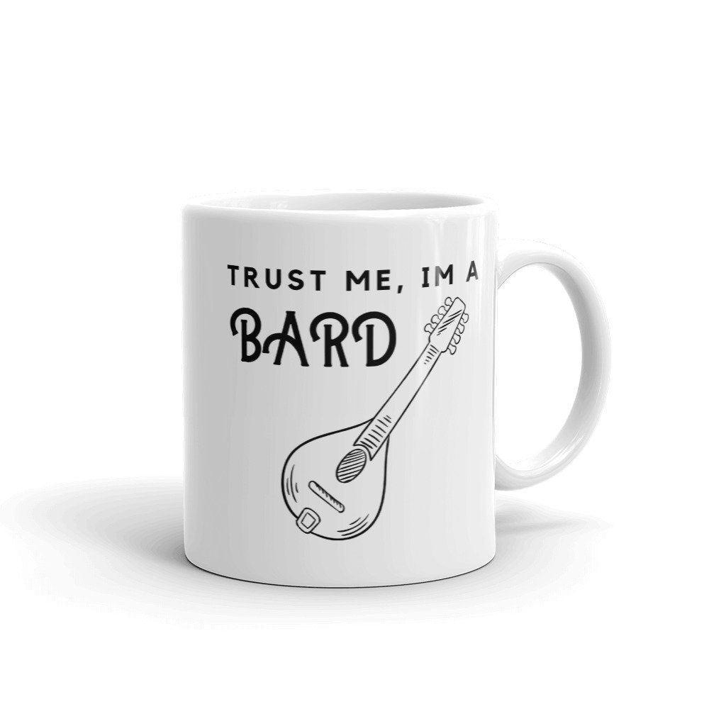 Bard Mug | Trust Me I'm a Bard | Dungeons and Dragons Pathfinder Tabletop RPG