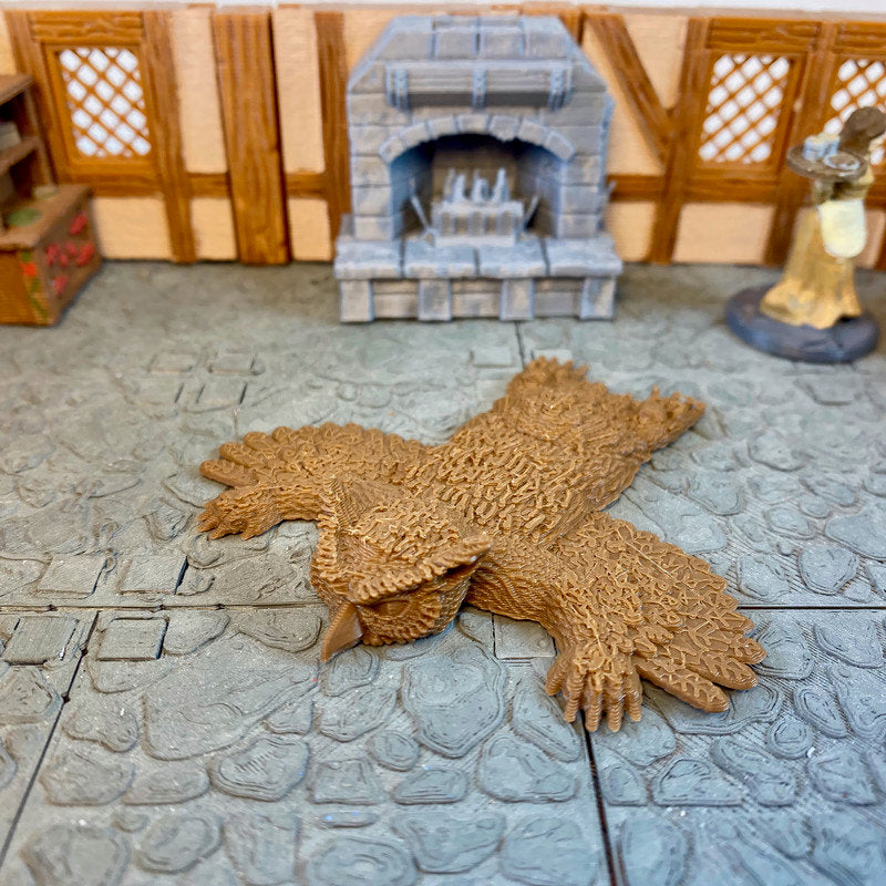 Owlbear Rug 28m Scale Miniature for D&D Village