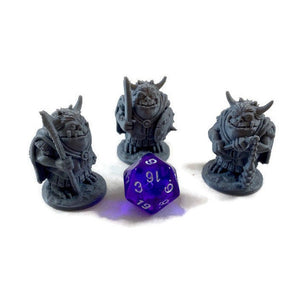 3 Piece Set of Goblinoid Warriors (Hobgoblins) 28mm Scale Monster Miniatures for D&D Dungeon Terrain