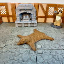 Load image into Gallery viewer, Bear Rug 28m Scale Miniature for D&D Village | Dungeons and Dragons Pathfinder Tabletop RPG